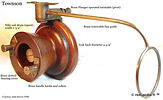 1- Townson wood & brass vintage side cas