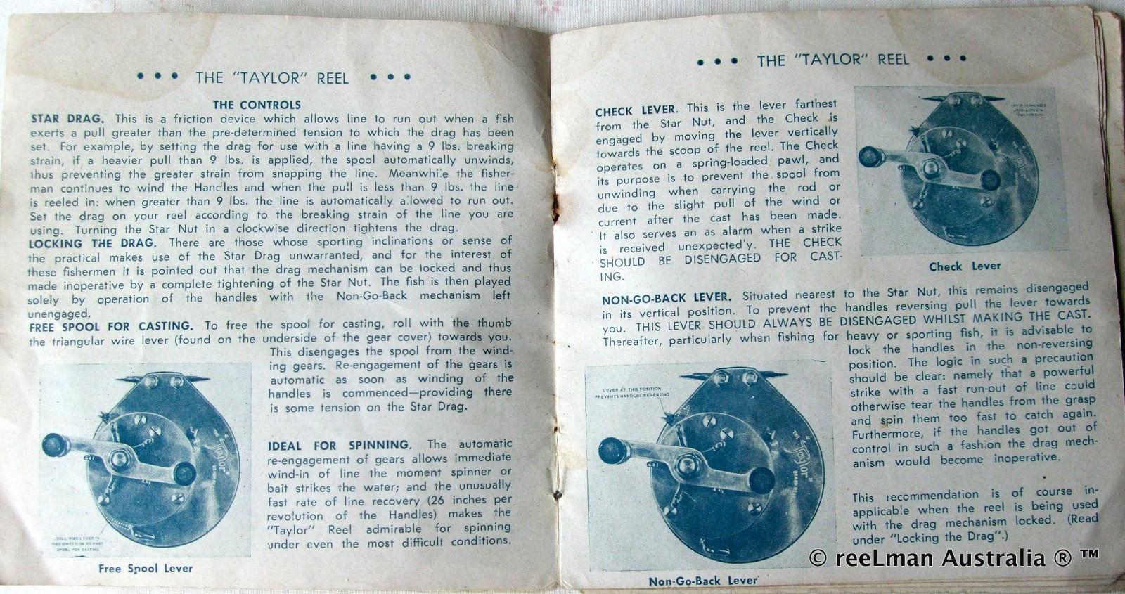 04- TAYLOR vintage fishing reel service