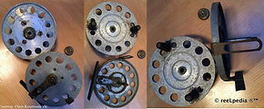 3-Vintage Nottingham Workshop reel made in Australia