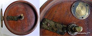 3-Wood reel cedar Smith Jones 6 inch