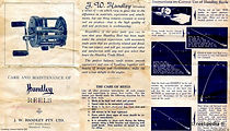 2 - HANDLEY vintage fishing reel specification booklet