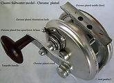1-CLASMI vintage Fly fishing reel, Saltwater model