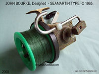 John Bourke made Seamartin style vintage fishing reel