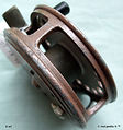 3- DAWSON  vintage FLY REEL Brown colour