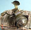 Vintage brass spinning reel