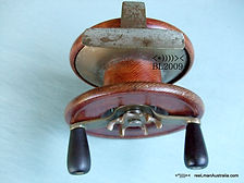 ALVEY Rare vintage wooden Game fishing reel, Rare model