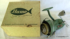 1- HUME L H wind vintage spinning fishin