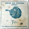01- TAYLOR vintage fishing reel service