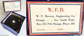 1- Dawson vintage Fly fishing reel & Box