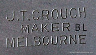 Crouch reel stamped J. T. Crouch maker Melbourne..