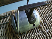 Rare Spin-master  Brass proto-type Thread-line Spinning Fishing reel made in Australia.