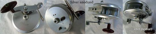 2-Clasmi vintage fishing reel Silver anodised