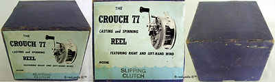 1-Crouch 77 fishing reel Box made in Aus