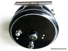 Clasmi fly reel black back plate view
