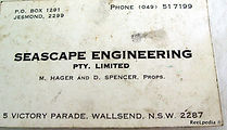 08- SEASCAPE ENGINEERING buisness card