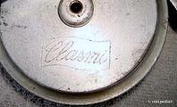 1-Clasmi Fly reel; shield banner inscription