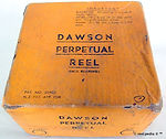 4- DAWSON Fly fishing vintage reel Box
