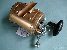 Gold anodised Magna-Flite vintage fishing reel