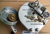 3- TAYLOR Sleeve bearing vintage fishing