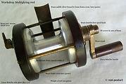 1- Vintage Multiplying Worshop made fishing reel