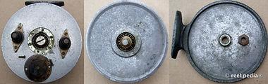2- Vintage Nottingham ball bearing fishing reel