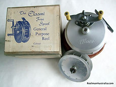 CLASMI early twin handle-knob fishing reel in Mint conditionwith original box & spare spool, Extremely Rare!
