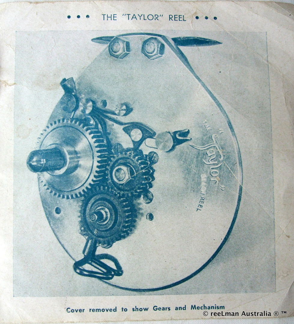 10- TAYLOR vintage fishing reel service