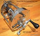 SWORD FISH vintage game fishing reel spe