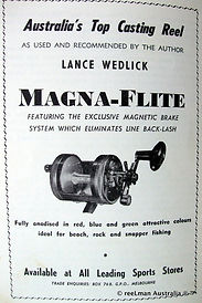 MAGNA-FLITE vintage fishing reel anodise
