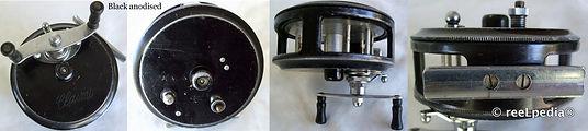 2-CLASMI vintage Fly fishing reel; Back anodized model
