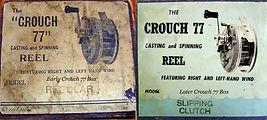 1-Crouch 77  vintage fishing reel Box ma
