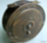 Rare EBRO brass fly fishing reel made in Australia by Rogers brothers, Melbourne, Australia.
