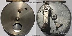 2- CROUCH dual brake vintage fishing ree