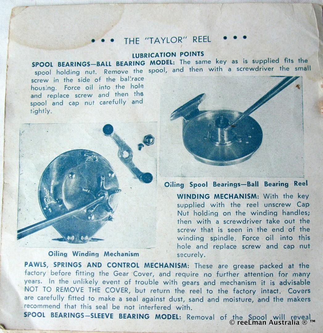 05- TAYLOR vintage fishing reel service