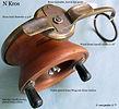 1-Nick kros wood & brass vintage side ca