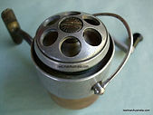 Rare Spin-master  Brass proto-type Fishing reel made in Australia.