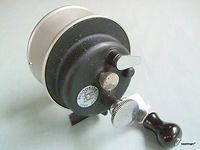 WOODSIDE surf casting reel made in Melbourne Australia. Extremely Rare.