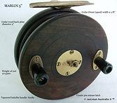 MARLIN 5'' vintage fishing reel specific