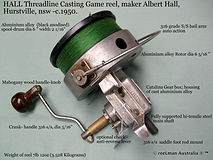 HALL 'Albert_ vintage threadline game sp