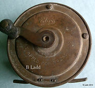 EBRO brass fly fishing reel made in Australia by Rogers brothers, Melbourne in 1930.
