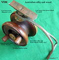 1- VIM side wood and brass vintage side