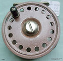 1- DAWSON  vintage FLY REEL Brown colour