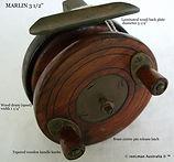 MARLIN vintage  3 1_2'' fishing reel woo