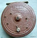 2-DAWSON  vintage FLY REEL Brown colour