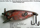 1-Vintage fishing Lure S E C Victoria