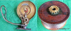 3- VIM side wood and brass vintage side