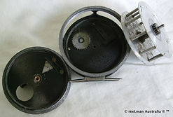 Williams rare vintage fly fishing reel made in Australia gear housing image