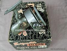 Surmaster Eildon vintage spinning reel with original box Rare.