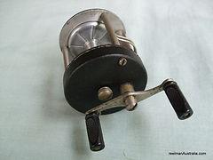 HANDLEY Model 'A' vintage fishing reel - side plate view