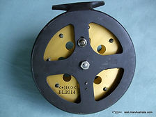 HALCO  vintage Non Star-Drag Fishing reel, Back plate image